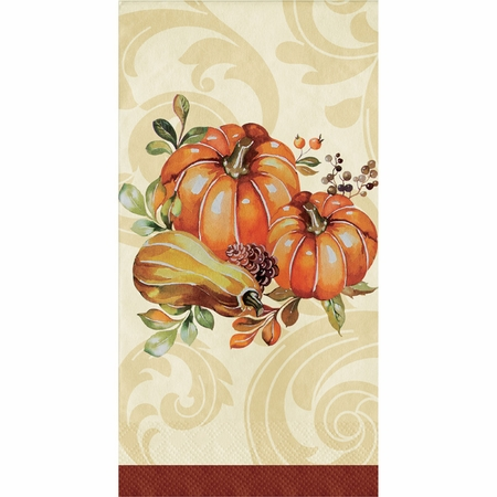 Autumn Wreath Guest Towels 192 ct