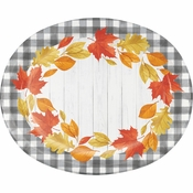 Falling Leaves Oval Plates 96 ct