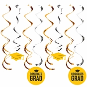 Yellow Graduation Dizzy Danglers 96 ct