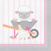 Farmhouse 1st Birthday Girl Luncheon Napkins 192 ct