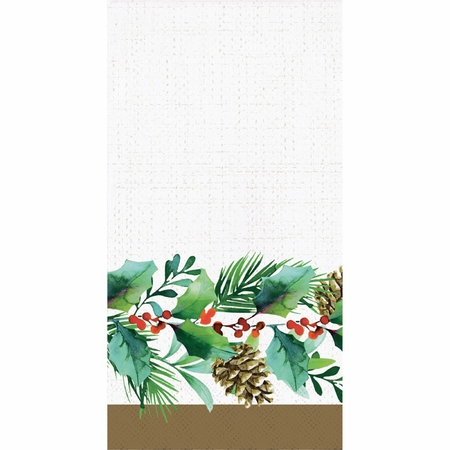 Golden Holly Guest Towels 192 ct