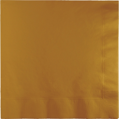 Value Friendly Glittering Gold Luncheon Napkins 240 ct