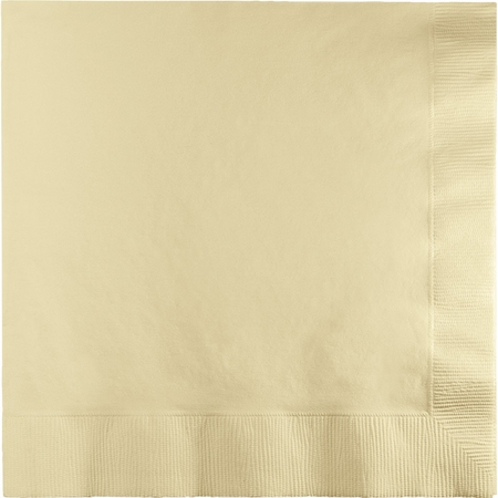 Touch of Color Ivory 2 Ply Luncheon Napkins in quantities of 50 / pkg, 12 pkgs / case
