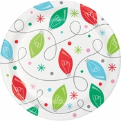 Holiday Whimsy Christmas Lights Dessert Plates 96 ct