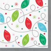 Holiday Whimsy Christmas Lights Luncheon Napkins 192 ct
