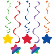 Rainbow Swirl Decorations 30 ct
