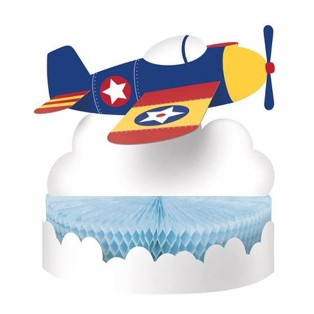 Toy Airplane Centerpieces 6 ct