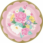 Floral Tea Party Dinner Plates 96 ct