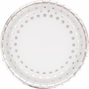 Sparkle and Shine Silver Foil Dinner Plates