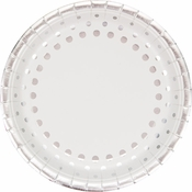 Sparkle and Shine Silver Foil Banquet Plates