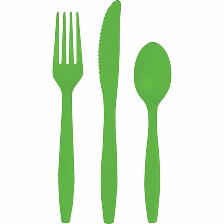Fresh Lime Green Assorted Plastic Cutlery 216 ct