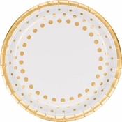 Sparkle and Shine Gold Foil Banquet Plates