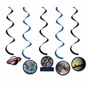 Space Blast Swirl Decorations 30 ct