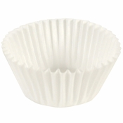 """White Fluted Baking Cups  - 2.5"""" 2,000 ct."""