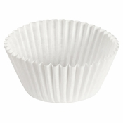 """Brooklace� Kosher certified White 3"""" Fluted Bake Cup is sold in bulk quantities of 500 / pkg, 40 pkgs / case"""