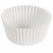 """Brooklace� Kosher certified White 3.5"""" Fluted Bake Cup is sold in bulk quantities of 500 / pkg, 20 pkgs / case"""