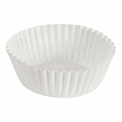 """Brooklace� Kosher certified White 4"""" Blank Fluted Bake Cup is sold in bulk quantities of 500 / pkg, 20 pkgs / case"""