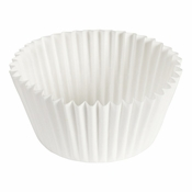 """Brooklace� Kosher certified White 4.5"""" Blank Fluted Bake Cup is sold in bulk quantities of 500 / pkg, 20 pkgs / case"""