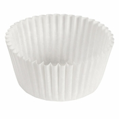 """Brooklace� Kosher certified White 3.5"""" Blank Fluted Bake Cup is sold in bulk quantities of 500 / pkg, 20 pkgs / case"""