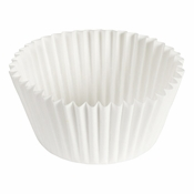 """Brooklace� Kosher certified White 4.5"""" Fluted Bake Cup is sold in bulk quantities of 500 / pkg, 20 pkgs / case"""