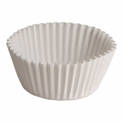 """Brooklace� Kosher certified White 3"""" Blank Fluted Bake Cup is sold in bulk quantities of 500 / pkg, 20 pkgs / case"""