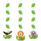 Jungle Safari Hanging Decorations 36 ct