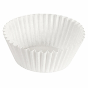 """Brooklace� Kosher certified White 5"""" Fluted Bake Cup is sold in bulk quantities of 500 / pkg, 20 pkgs / case"""
