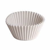 """Brooklace� Kosher certified White 6"""" Fluted Bake Cup 1,000 ct is sold in bulk quantities of 500 / pkg, 2 pkgs / case"""