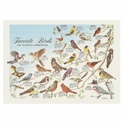"Blue Favorite Birds Dollar-wise 10"" x 14"" Placemat in quantities of 1,000 / case"