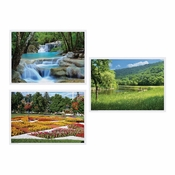 "Multicolored Summer 10"" x 14"" Multipack Placemats in quantities of 1,000 / case"