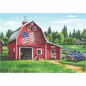 Patriotic Barn Placemats 1,000 ct