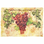 "Ivory and Green Tuscany 9.75"" x 14"" Placemat in quantities of 1,000 / case"