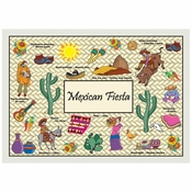 """10"""" x 14"""" Mexican Fiesta Paper Placemats 1,000 ct"""