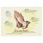 "Ivory Four Faiths Dollar-wise 10"" x 14"" Placemat in quantities of 1,000 / case"