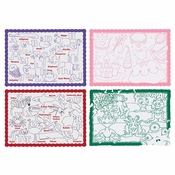 "Assorted Color Me Placemat Assorted 9.75"" x 14"" Placemats in quantities of 250 / pkg, 4 pkgs / case"