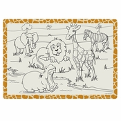 "White Jungle Fun Dollar-wise 9.75"" x 14"" Placemat in quantities of 1,000 / case"