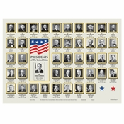 "Ivory US Presidents 10"" x 14"" Placemat, 100 % recycled paper, flat packed in quantities of 1000 / case"