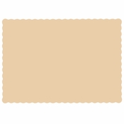 "Beige 9.5"" x 13.5"" Economy Paper Placemat, flat packed in quantities of 1000 / case"