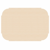"Beige 9.75"" x 14"" Decorator Placemat in quantities of 1000 / case"