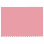 "Dusty rose 9.5"" x 13.5"" Economy Paper Placemat, flat packed in quantities of 1000 / case"