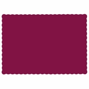"Burgundy 9.5"" x 13.5"" Economy Paper Placemat, flat packed in quantities of 1000 / case"