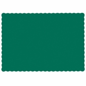 "Hunter Green 9.5"" x 13.5"" Economy Paper Placemat, flat packed in quantities of 1000 / case"