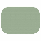 "Soft Sage 9.75"" x 14"" Decorator Placemat, Linenized texture, flat packed in quantities of 1000 / case"