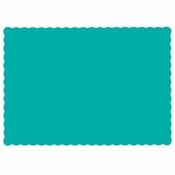 "Teal 9.5"" x 13.5"" Economy Paper Placemat, flat packed in quantities of 1000 / case"