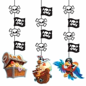 Treasure Island Pirate Hanging Decorations 36 ct