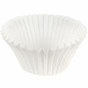 """White Fluted Baking Cups - 5.5"""" 10,000 ct."""