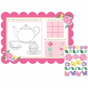 Floral Tea Party Paper Placemats 96 ct