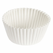 """Brooklace� Kosher certified White 4.75"""" Fluted Bake Cup is sold in bulk quantities of 500 / pkg, 20 pkgs / case"""