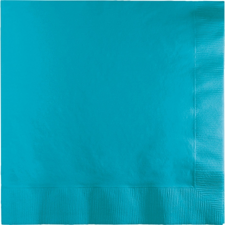 Touch of Color Bermuda Blue 2 Ply Luncheon Napkins 600 ct in quantities of 50 / pkg, 12 pkgs / case