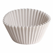 """Brooklace� Kosher certified White 6"""" Fluted Bake Cup is sold in bulk quantities of 500 / pkg, 20 pkgs / case"""
